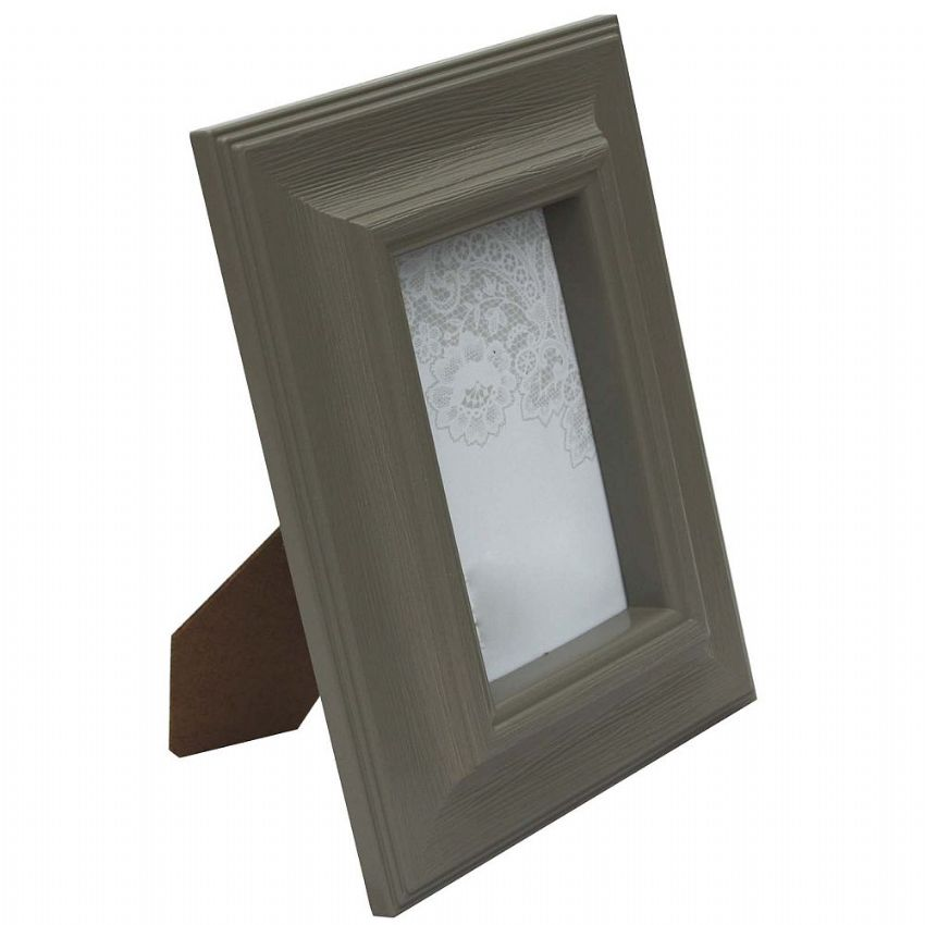 Chunky Taupe Painted 4 x 6 Photo Frame